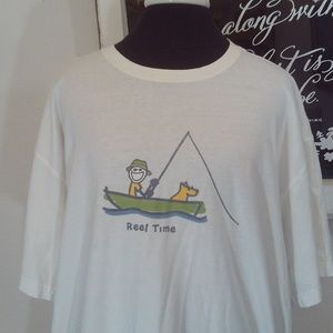 Life Is Good Reel Time Tee Size XL EUC